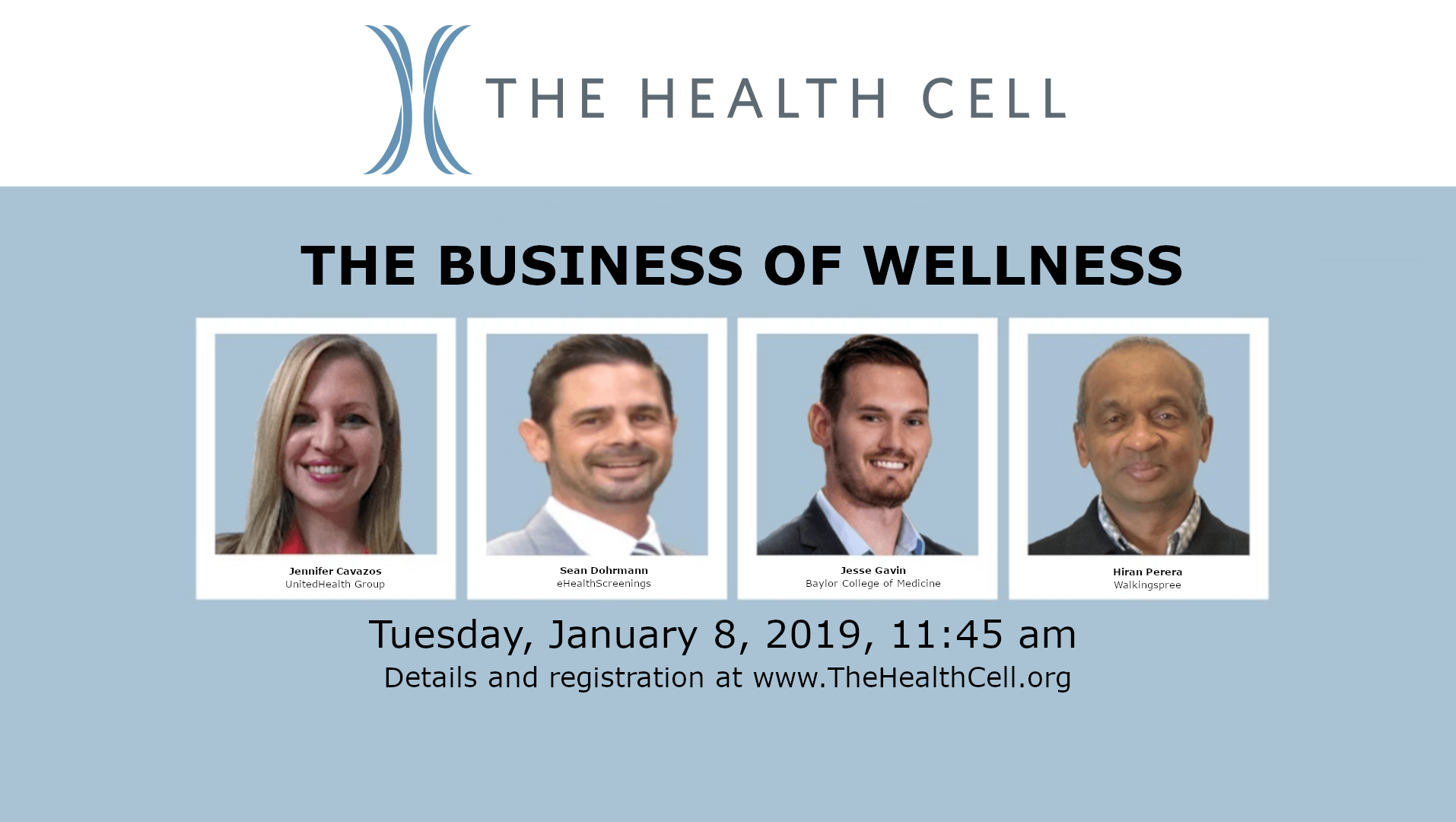 The Business of Wellness – The Health Cell Event