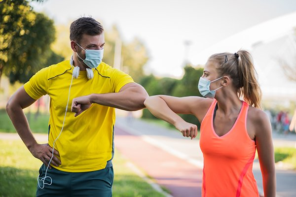 exercising with masks