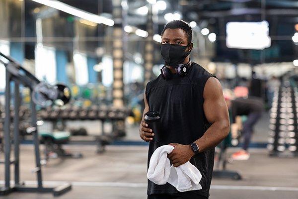 mask at gym